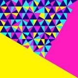 Fundo geométrico abstrato, estilo de néon de memphis ilustração stock