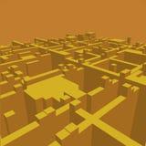 Fundo geométrico abstrato - ilustração 3d Wireframe perspective ilustração do vetor