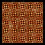 Fundo geométrico alaranjado e preto abstrato ilustração royalty free