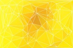 Fundo geométrico amarelo dourado brilhante com malha ilustração stock