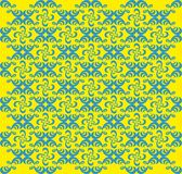 Fundo geométrico amarelo e azul abstrato - vetor Foto de Stock Royalty Free