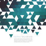 Fundo geométrico azul abstrato com triângulo Vetor Foto de Stock