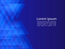 Fundo geométrico azul abstrato dos triângulos com perspectiva co Imagens de Stock Royalty Free