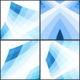 Fundo geométrico azul abstrato Ilustração do vetor Imagens de Stock