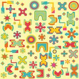 Fundo geométrico brilhante abstrato sem emenda Imagens de Stock Royalty Free
