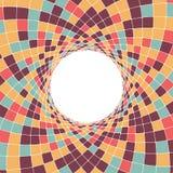 Fundo geométrico circular com rombos ilustração do vetor