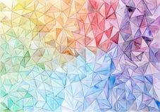 Fundo geométrico colorido Imagens de Stock