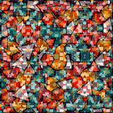 Fundo geométrico colorido Ilustração Royalty Free