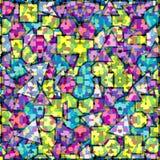 Fundo geométrico colorido Ilustração do Vetor
