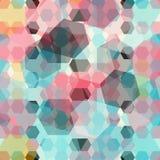 Fundo geométrico colorido Ilustração Stock