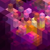 Fundo geométrico colorido abstrato Fotos de Stock Royalty Free