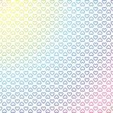 Fundo geométrico colorido dos corações ilustração royalty free