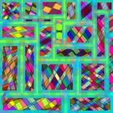 Fundo geométrico colorido sumário do mosaico Ilustração do Vetor