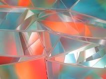 Fundo geométrico colorido sumário rendição 3d Foto de Stock Royalty Free