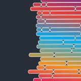 Fundo geométrico com formulários coloridos Imagens de Stock Royalty Free