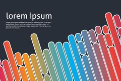 Fundo geométrico com formulários coloridos Foto de Stock
