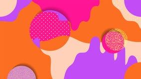 Fundo geométrico criativo com formas e texturas diferentes collage Projete para o cartaz, cartão, convite, cartaz ilustração royalty free