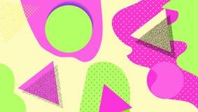 Fundo geométrico criativo com formas e texturas diferentes collage Projete para o cartaz, cartão, convite, cartaz, folheto ilustração royalty free