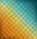 Fundo geométrico da abstração da ilustração com quadrados Imagens de Stock Royalty Free