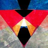 Fundo geométrico da aquarela abstrata Fotos de Stock