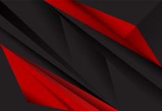 Fundo geométrico da camada abstrata vermelha e preta Fotografia de Stock