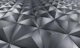 Fundo geométrico da fibra do carbono Fotos de Stock Royalty Free