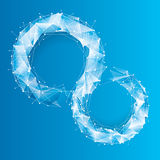 Fundo geométrico da tecnologia azul Fotos de Stock Royalty Free