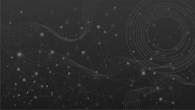 Fundo geométrico da tecnologia da onda abstrata Imagens de Stock Royalty Free