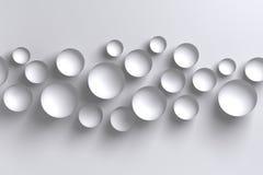Fundo geométrico das bacias polígono brilhante abstrato do branco 3D do baixo Imagens de Stock Royalty Free