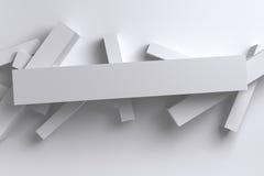 Fundo geométrico das caixas polígono brilhante abstrato do branco 3D do baixo Fotos de Stock Royalty Free
