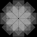 Fundo geométrico das ilusões Fotografia de Stock