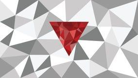 Fundo geométrico de brilho abstrato da Web do vetor, forma vermelha na parte dianteira, máscaras do triângulo cinzento, diamante  Fotografia de Stock Royalty Free