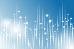 Fundo geométrico do gráfico, carta em cores azuis e brancas Imagem de Stock Royalty Free