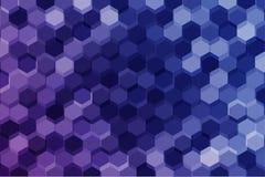 Fundo geométrico do hexágono Foto de Stock Royalty Free