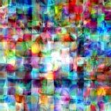 Fundo geométrico do pallette da pintura mozaic colorida abstrata das telhas do arco-íris Fotografia de Stock Royalty Free