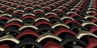 fundo geométrico do papel de parede do sumário do Weave 3D Fotografia de Stock