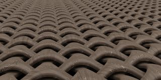fundo geométrico do papel de parede do sumário do Weave 3D ilustração stock