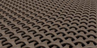 fundo geométrico do papel de parede do sumário do Weave 3D ilustração royalty free