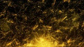Fundo geométrico do sumário da cor do ouro Fotografia de Stock Royalty Free