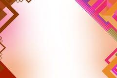 fundo geométrico do sumário da forma do quadrado do rosa 3d Imagens de Stock