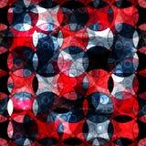 Fundo geométrico do sumário vermelho e preto dos círculos Imagens de Stock Royalty Free