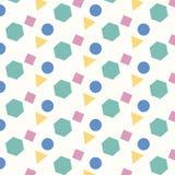 Fundo geométrico do teste padrão de quatro formas da cor ilustração do vetor