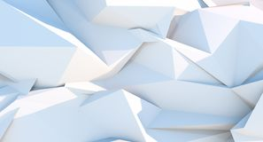 Fundo geométrico do triângulo poligonal branco ilustração do vetor