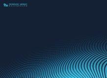 Fundo geom?trico dos pontos m?nimos azuis abstratos da tecnologia Vetor eps10 da ilustra??o ilustração royalty free