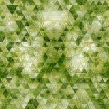 Fundo geométrico dos triângulos verdes abstratos gerados por computador Imagens de Stock