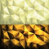 Fundo geométrico poligonal do triângulo do sumário do polígono do vetor em cores amarelas ilustração royalty free