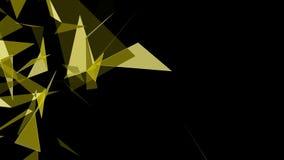 Fundo geométrico poligonal moderno do triângulo do sumário ilustração stock