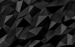 Fundo geométrico preto abstrato Textura do ouro com sombra 3d rendem ilustração royalty free