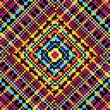 Fundo geométrico psicadélico colorido brilhante do sumário dos polígono Efeito do Grunge Ilustração do vetor Fotos de Stock