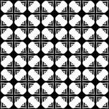 Fundo geométrico repetido sem emenda preto e branco do teste padrão da flor decorativa Matéria têxtil, livros, fotografia de stock royalty free